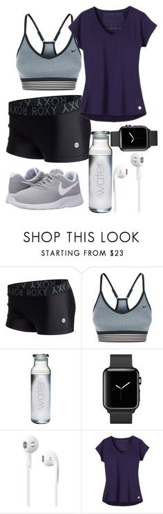 """Workout"" by blackest-raven ❤ liked on Polyvore featuring Roxy, NIKE and prAna"