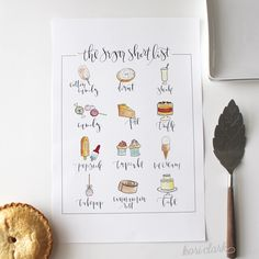 Sugar-Short-List free printable