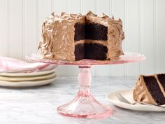 Ina Garten's chocolate cake has a subtle mocha flavor thanks to the cup of freshly brewed coffee in the batter. But our favorite part of this recipe is the thick chocolate buttercream icing on top of the cake and between its layers.