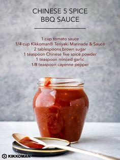 Grilled Pork Tenderloin with 5 Spice Asian Barbecue Sauce recipe Asian Bbq Sauce, Teriyaki Marinade, Barbecue Sauce Recipes, Marinade Sauce, Chinese Bbq Sauce, Grilled Pork, Asian Cooking, Canning Recipes, Back Home