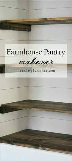 Schön Get Your Food Storage And Cupboards Ready To Go Before Holiday Cooking With  This Farmhouse Pantry Makeover. We Love The Idea Of Making Your Panty As  Stylish ...