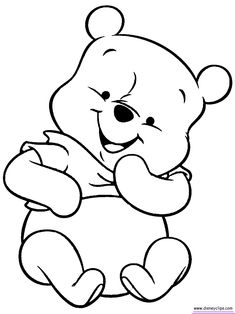 baby pooh bear coloring pages - Google Search