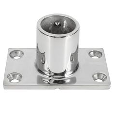 Stainless Steel 90 Degree Marine Boat Hand Rail Fitting Rectangular Tube Base