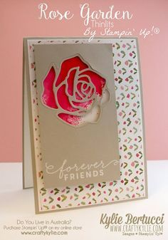 Rose garden, Stampin up