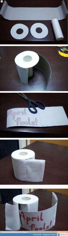 #AprilFools ....toilet paper!