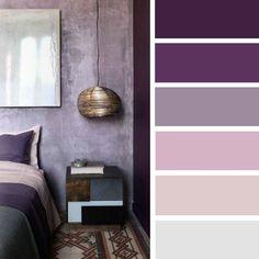 100 Color Inspiration Schemes : Mauve + Purple Color Palette #color #palette #mauve