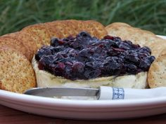 Baked Brie w/ Blueberry Sauce Recipe