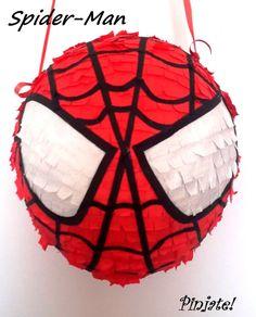 SPIDER-MAN cabeza de piñata regalo de por PinjateNoviSad en Etsy