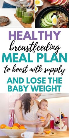 Tired of worrying about what to eat while breastfeeding? This one week breastfeeding meal plan is so helpful. Great healthy breastfeeding diet plan for increasing milk supply and losing weight postpartum. #breastfeedingdiet #lactation #breastfeeding #breastfeedingfood #birtheatlove