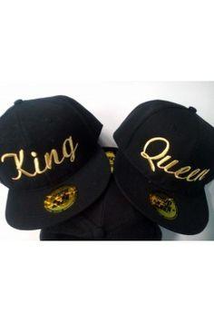 SNAPBACK GOLD KING QUEEN kepurės porai caa55cfbe7a6