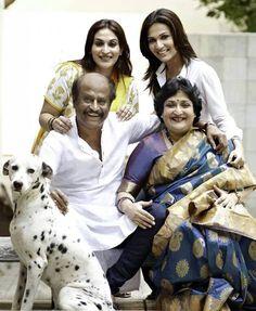 MegaStar Rajnikant With Family
