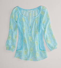 This Printed Chiffon Blouse makes me ready for Spring