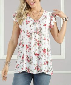 552f804b01f Plus Size Women Fashion Blouse Casual Loose Floral Printed Tops in ...