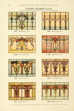 International Art Glass Catalogue, National Ornamental Glass Manufacturers Association of the United States and Canada 1914.