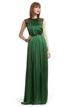 Green Satin Charm Gown Yigal Azrouel..... if i ever have to walk the red carpet, id get this dress #inlove