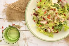 Spring Time Salad with Ginger Dressing. Perfect colorful, light and refreshing salad.
