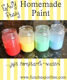The Fun Cheap or Free Queen: Easy Homemade Paint Recipe - great arts and crafts project for kids!