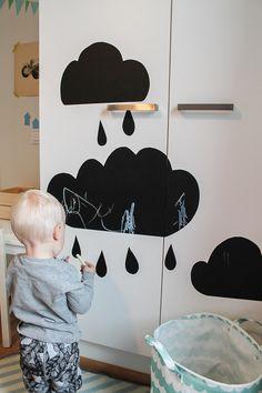 Lastenhuoneen sisustaminen - yksityiskohtia liitutaulutarralla
