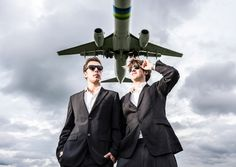 Vicetone posing for a shot as an airliner flew over. Massive soundblast.