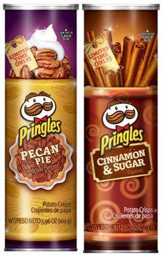 Pringles Pecan Pie and Cinnamon & Sugar Holiday Flavors.   - Say wut.