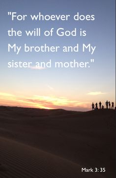 Whoever does the will of God