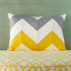 Chevron Stripe Lumbar Pillow - love this wish I could afford stupid stuff like this!