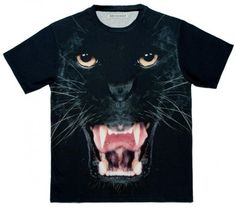 Smooth Apparel Full Print Design from Barcelona Tee Shirts, Tees, Black Panther, Print Design, My Style, Animals, Clothes, Outfits, T Shirts