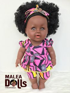 Doll With Hair, Pink Princess, Age 3, Curly Hair Styles, Wax, Dolls, Handmade, Black, Products