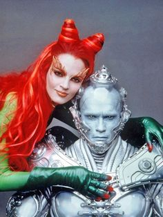 Uma Thurman as Poison Ivy and Arnold Schwarzenegger as Mr. Freeze from Batman and Robin