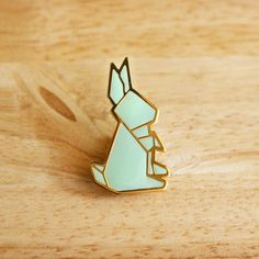 The Little Dröm Store — Origami pins : Rabbit & Bear Badges, Origami Tattoo, Origami Ring, Origami Jewelry, Geometric Origami, Rabbit Tattoos, Bunny Tattoos, Jewelry Accessories, Jewelry Design