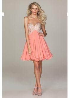 Elegant Chiffon A-line Sweetheart Neckline Appliques And Beaded Short Length Homecomg Dress/Cocktail Dress