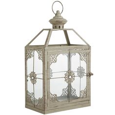 Jewel Square Lantern - Gray Narrow