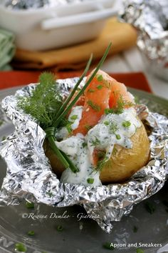 Apron and Sneakers - Cooking & Traveling in Italy and Beyond: Foil-Baked Potatoes With Salmon, Ricotta & Wild Fennel