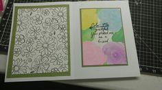 Inside of flower card