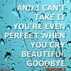 BEAUTIFUL GOODBYE. One of my favorite songs!!! @emilyschaefer