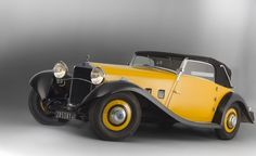 Vintage Delage D8 Yellow Cabriolet design 1933 ❤ App for your car ★ Car Warning Lights guide, now in App Store https://itunes.apple.com/us/app/car-warning-lights-guide-solve/id893411270?ls=1&mt=8