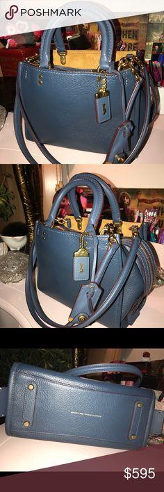 Coach Rogue 25 Dark Blue Denim Coach Rogue 25 Dark Blue Denim Coach Bags Shoulder Bags