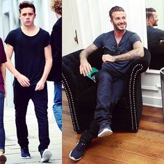 Everyone knew that who's the role model! #davidbeckham #brooklynbeckham #black #whowearitbetter