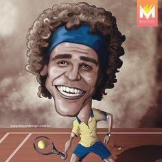 20 Anos de do 1º título de Guga em Roland Garros! :) #guga #mayocaricaturas