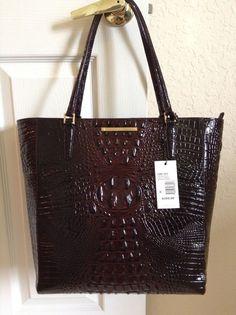 Brahmin Harrison Tote Cocoa Brown Melbourne Leather L80151 | eBay