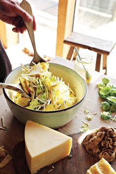 This crunchy apple and celeriac salad is the perfect way to show off a good, strong mature Cheddar