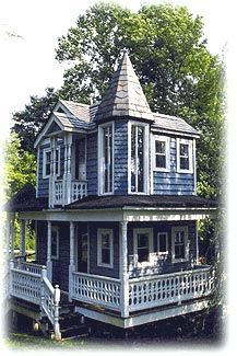 victorian playhouses for kids outdoor | But the outcome was worth it. As you approach the house from the road ...