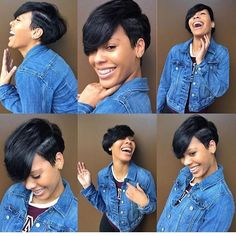 50 Stylish Short Hairstyles for Black Women 50 Stylish Short Hairstyles for Black Women Sexy short hair with deep side part bangs Short Hair Styles Easy, Short Hair Cuts, Medium Hair Styles, Curly Hair Styles, Natural Hair Styles, Pixie Cuts, Curly Short, Bump Hairstyles, Easy Hairstyles For Medium Hair