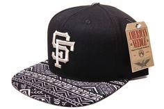 Custom San Francisco Giants Tribal MLB Baseball Strap Back Hat by Bespoke Cut and Sew in Rancho Cucamonga