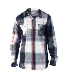LEVI'S Button down woven shirt All-over flannel print Double chest pocket detail Long sleeves Lightweight cotton for comfort