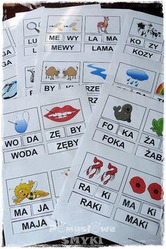 Inspiracje do wspólnych zabaw, łatwej edukacji oraz kreatywnych prac.Codzienność trójki smyków i ich mamy - rodzinne, zwariowane zabawy. Learn Polish, Kids Behavior, Kids Logo, Speech Therapy, Montessori, Activities For Kids, Playing Cards, Language, Bullet Journal