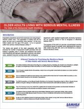 Older Adults Living with Serious Mental Illness: The State of the Behavioral Health Workforce