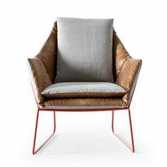 New York Chair Leather by  Saba Italia