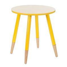 The Harley Gloss Yellow Round Side Table from Zanui is perfect for nestling between your current furniture, adding bright table space to your lounge area.
