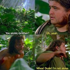 HAHAHA my favourite desmond/hurley moment #lost #losttv #lostabc #lostshow…